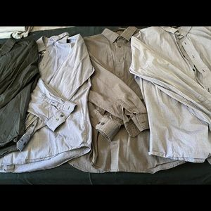 Bundle of 4 Men's Express Dress Shirts XL
